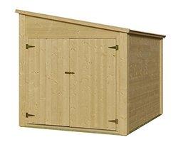 fahrradgarage holz fahrradbox top 14 neu. Black Bedroom Furniture Sets. Home Design Ideas