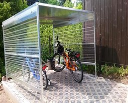 fahrradgarage metall top 15 fahrradboxen neu. Black Bedroom Furniture Sets. Home Design Ideas