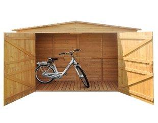 fahrradunterstand holz fahrradbox kaufen angebot neu. Black Bedroom Furniture Sets. Home Design Ideas